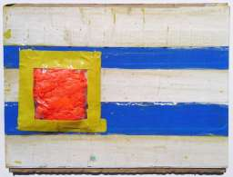 Flag tape painting by Scott Latimore