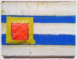 Flag tape painting by Scott Latimore
