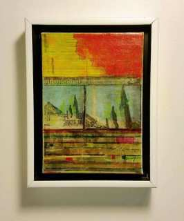 Earth Memory Acrylic Transfer Painting #4 -Scott Latimore