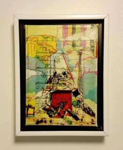 Earth Memory Acrylic Transfer Painting #6 (Congestion at the Clutter Level) -Scott Latimore