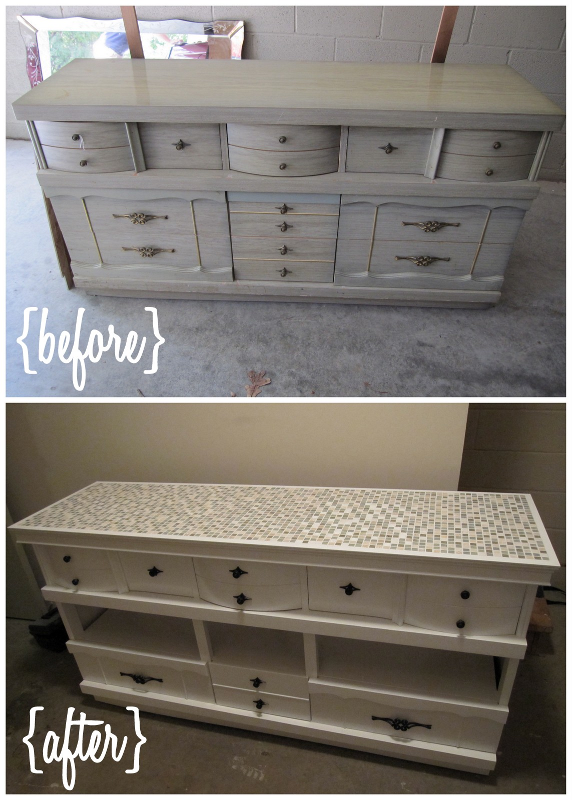 Throwback Thursday  Thrifted Dresser made into Entertainment Center  SCOTT and ALLIE BUY A HOUSE