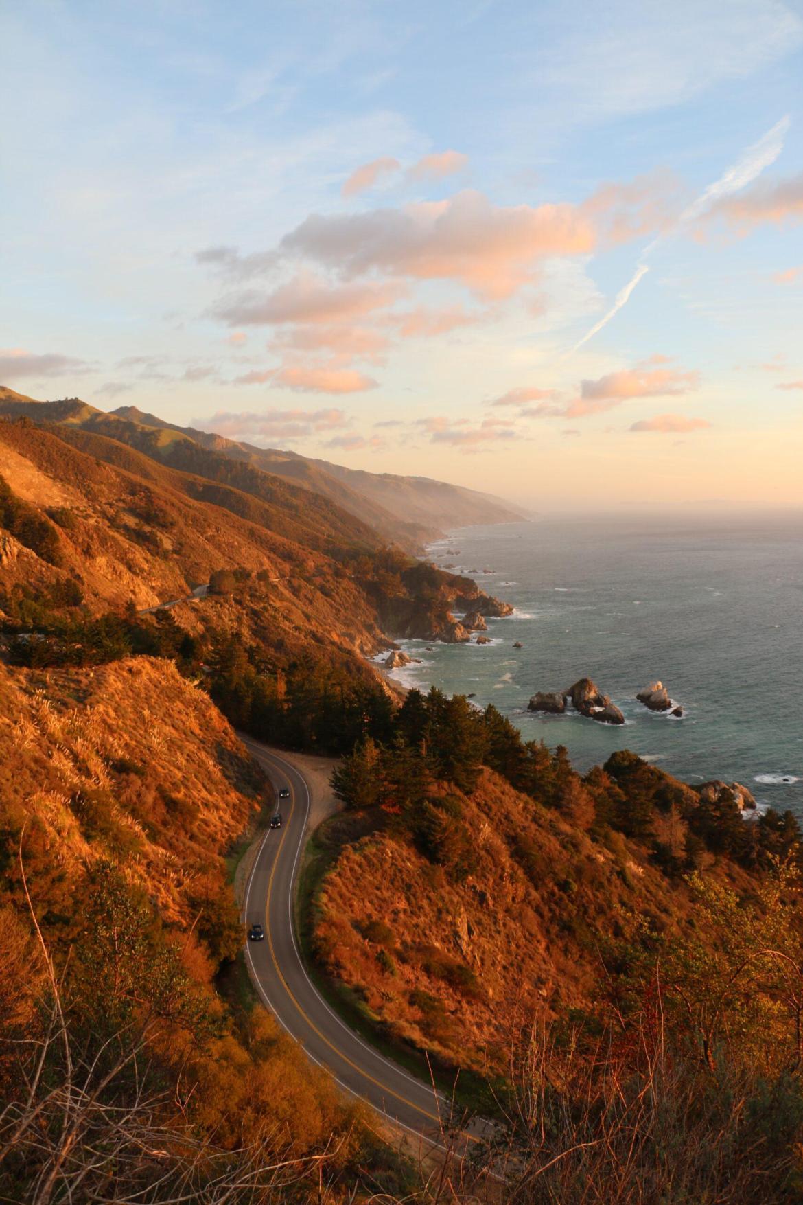 The bluffs of Big Sur, California