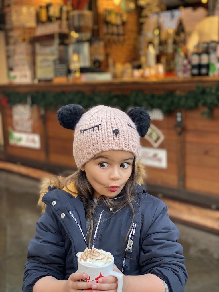 Hot Chocolate in the Christmas Markets Manchester England