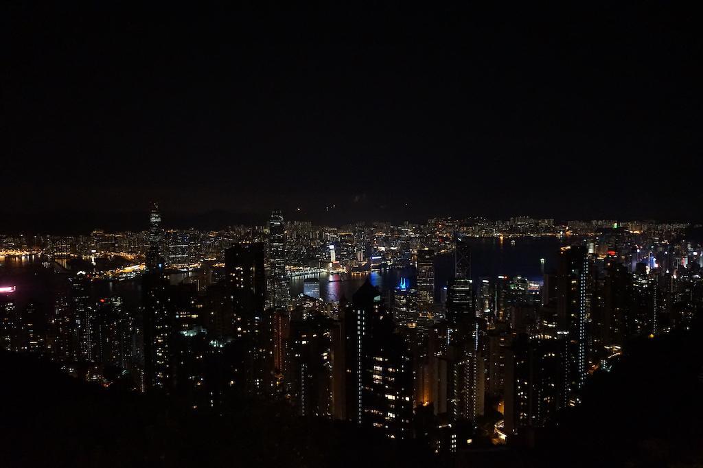 The Peak at night Hong Kong