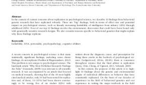 STUDY ALERT: Top 10 Replicated Findings From Behavioral Genetics