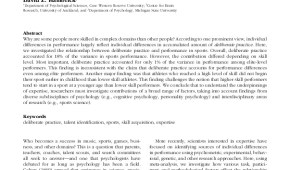 STUDY ALERT: The Relationship Between Deliberate Practice and Performance in Sports: A Meta-Analysis