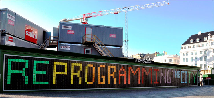 Reprogramming the City billboard in Copenhagen