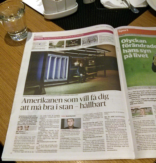 This was staring back at me one morning in the pages of Dagens Nyheter, Sweden's largest daily: