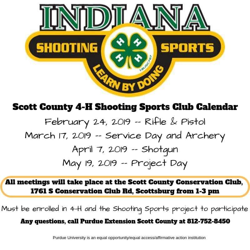 4-H Shooting Club Flyer
