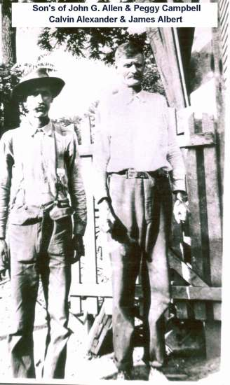 Calvin Alexander Allen and brother James Albert