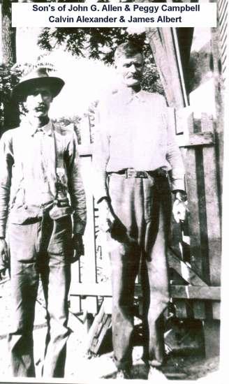 Calvin Alexander Allen and brother James Albert