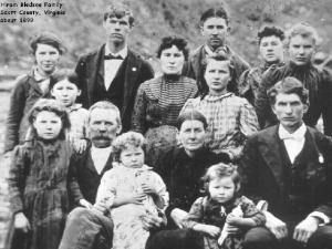 Hiram BLEDSOE, Amanda Jane BARNETT and Family