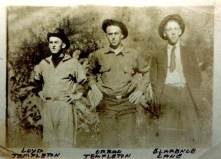 Lloyd TEMPLETON, Orban TEMPLETON and Clarence LANE