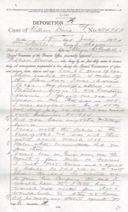 Case of William Davis, Deposition A & C