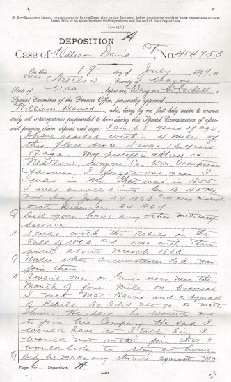 Case of William Davis, Deposition A & C
