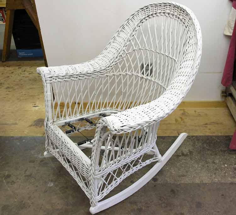 antique rocking chairs value microfiber club chair wicker rocker repair – scott doyle inc