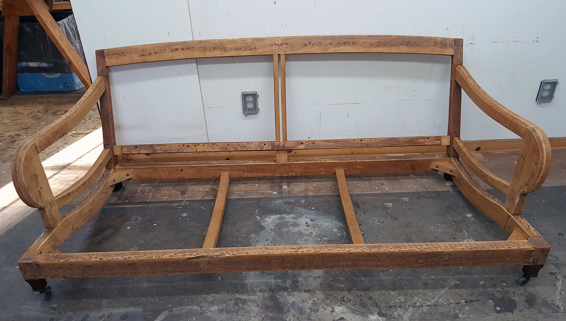repair sofa wood frame san antonio beam replace doityourself