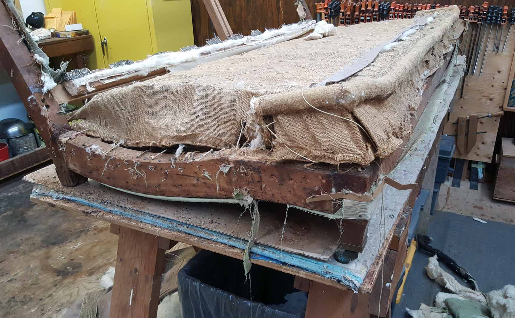 repair sofa wood frame genuine leather sale uk repaired  scott doyle inc