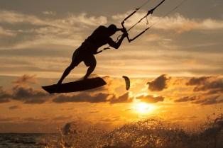 Windsurfing off Le Morne