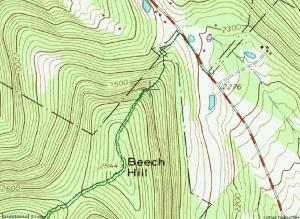 Topo map of Beech Hill