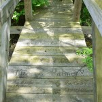 Foot bridge near trailhead at Laine Road