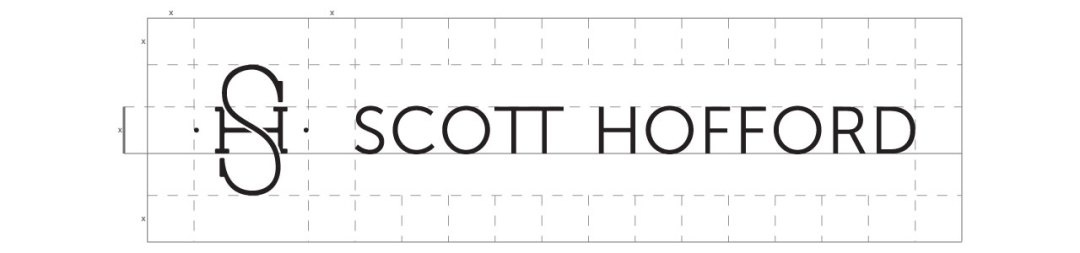 Scott Hofford Horizontal Logo with Grid