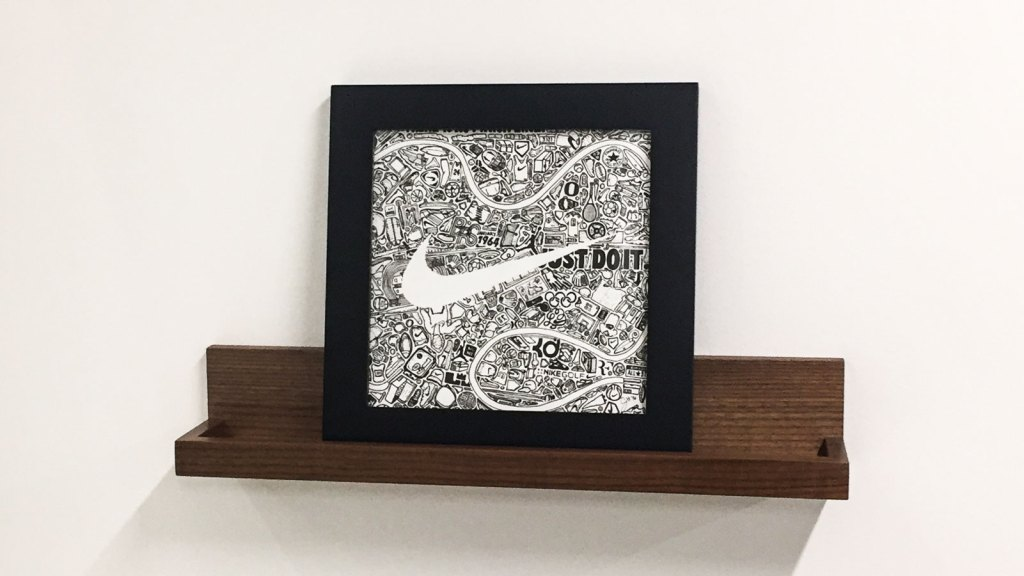 Nike Custom Art Piece Iconoflage On Display