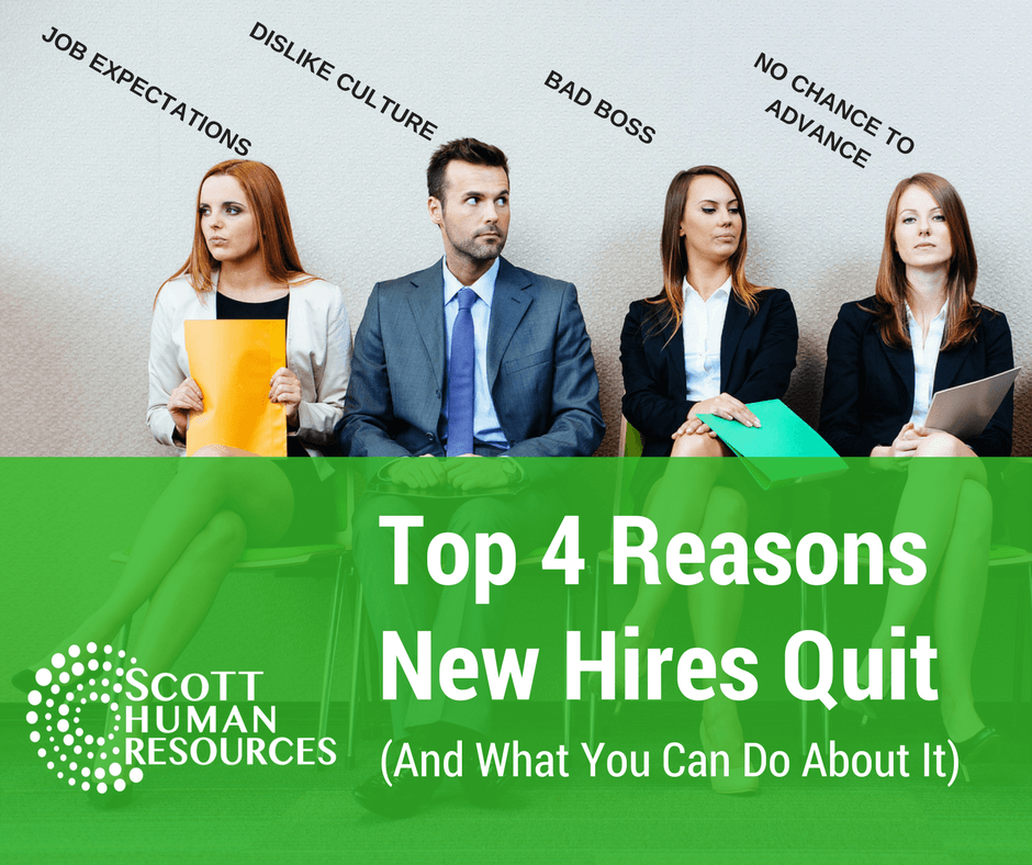 Top 4 Reasons New Hires Quit and what you can do about it