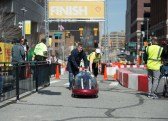 After completing a successful 7 lap run, the Shell tech team pushes GL2 toward the team.