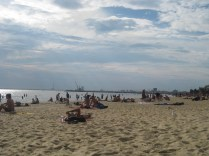 The beach with the view of Melbourne in the distance