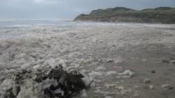 Capturing the foam at Ocean Beach