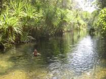 Enjoying the water at Berry Springs