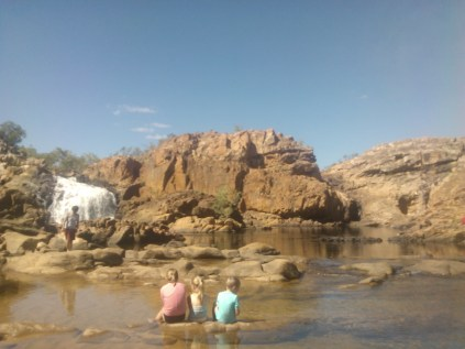 Others relaxing and enjoying Edith Falls