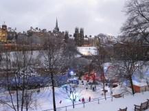 A snowy covered Edinburgh