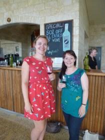 Me and Sarah wine tasting