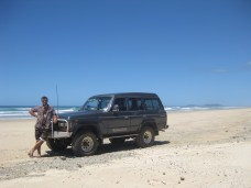Ben proud of his beach four wheel driving