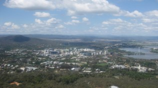 Canberra from above