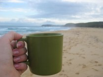 Enjoying a drink on the beach :-)