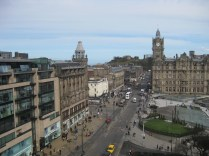 Calton Hill at the end of Princes St