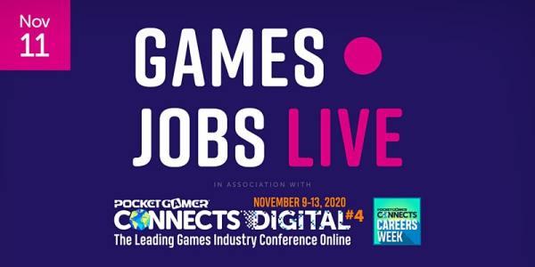 Games Jobs Live at Pocket Gamer Connect November 2020