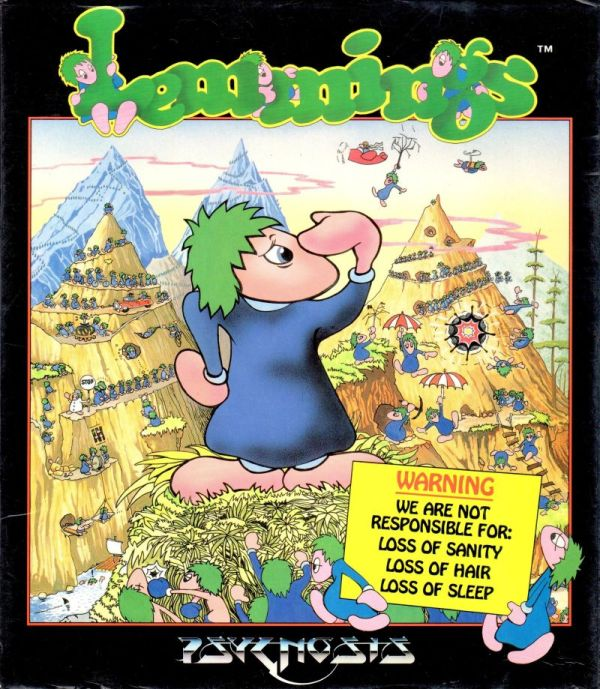 Lemmings. Amiga Box Art.