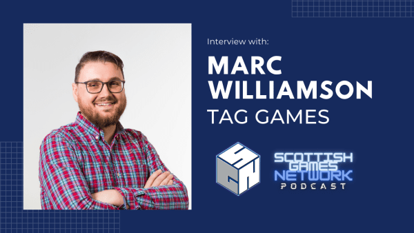 Podcast banner featuring Tag CEO Marc Williamson