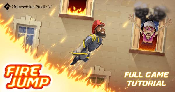 YoYo Games. GameMaker Studio 2. Fire Jump.