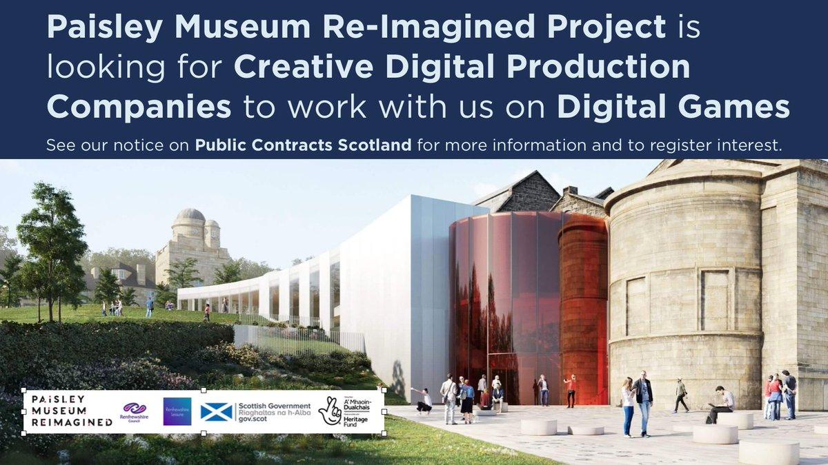 Paisley Museum. Digital games procurement.