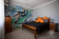 Kids bedroom murals, professional graffiti mural artist