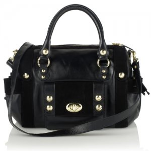 My Kate Benjamin Black Leather Studded Duffel Bag – and a 20% Discount Code for Accessories Direct
