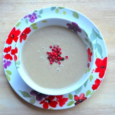 Soup Maker Recipe:  Cream of Aubergine and Butter Bean Soup