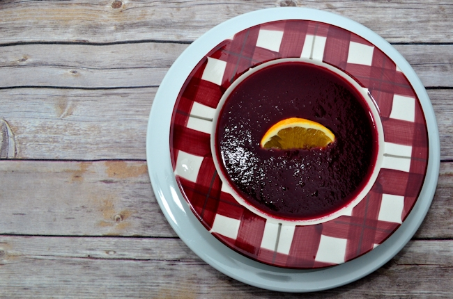 Soup Maker:  Beetroot and Orange Soup Recipe