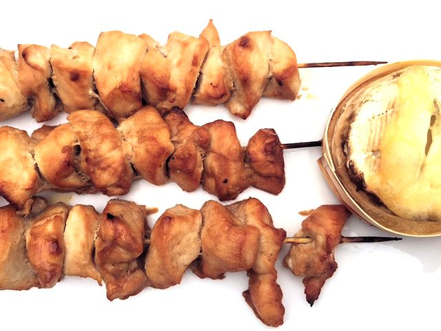 Chicken Kebabs with Baked Camembert