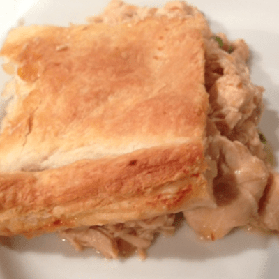 How to make a simple chicken pie with help from the slow cooker.